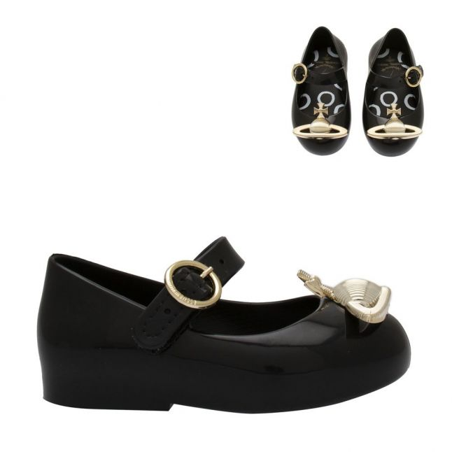 Vivienne Westwood Girls Black Orb Mini Sweet Love Shoes (4-10)
