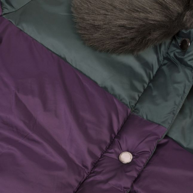 Womens Green/Purple Double Colour Padded Jacket