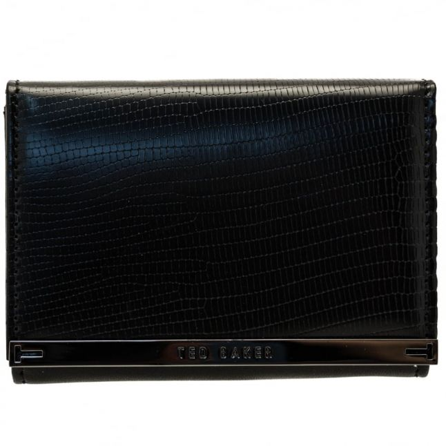 Womens Black Anellis Exotic Coin Purse