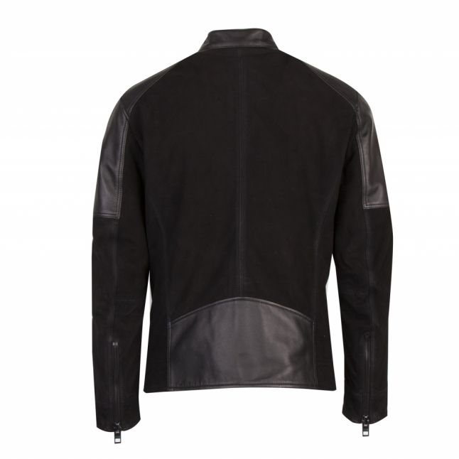 Casual Mens Black Jasens Leather Jacket