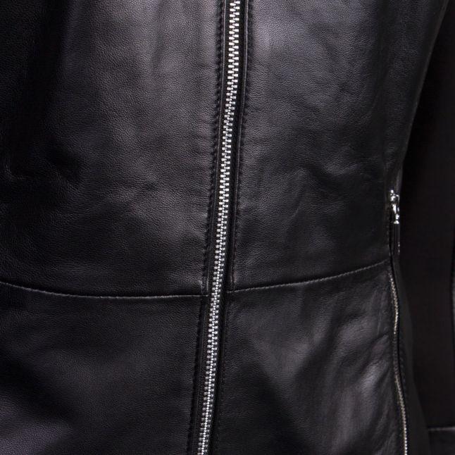 Womens Black Lilova Leather Jacket