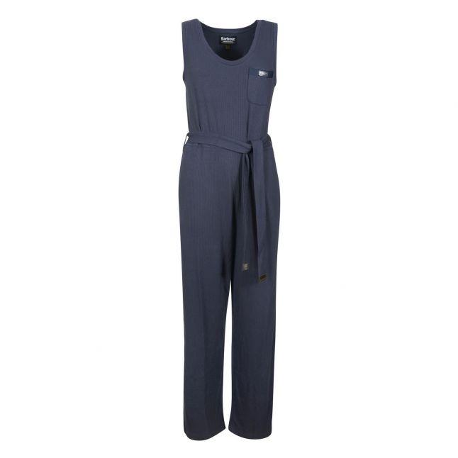Womens Metallic Blue Sugo Jumpsuit