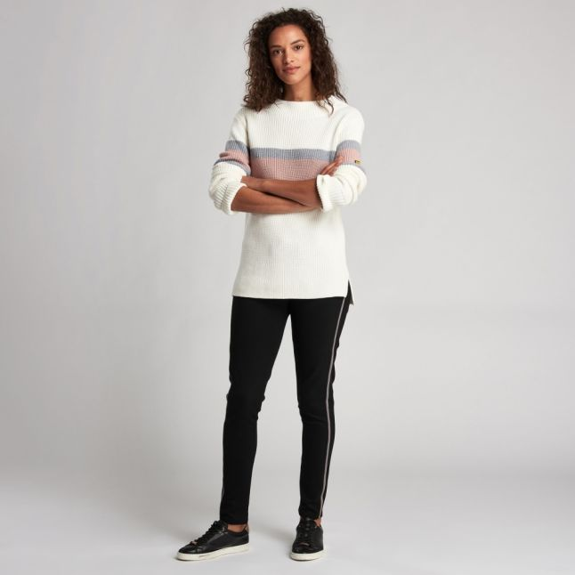 Womens Off White Strike Knitted Jumper