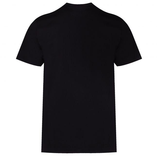 Mens Black Chest Box Logo S/s T Shirt
