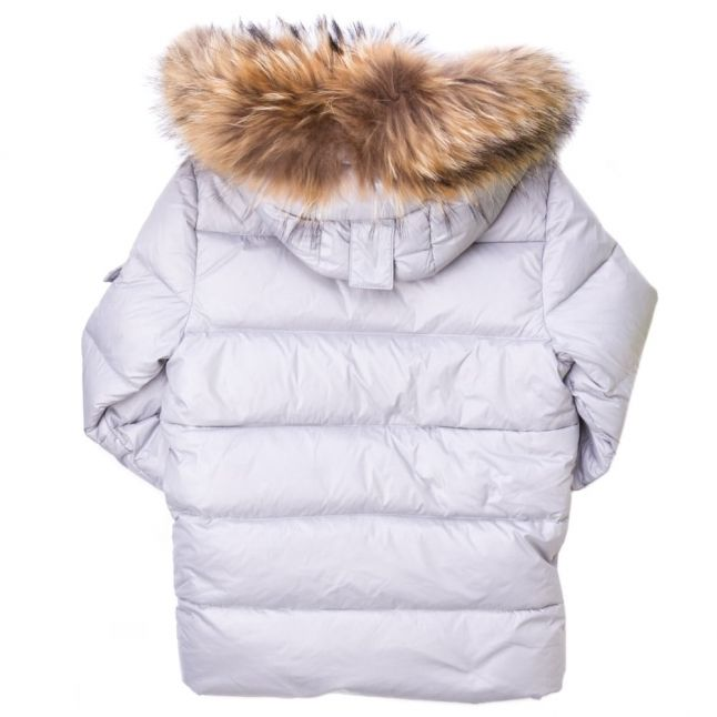 Girls Souris Authentic Fur Hooded Shiny Jacket (8yr+)