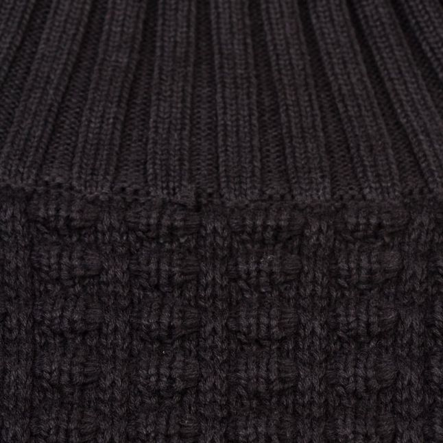 Black Mozart Popcorn High Neck Knitted Jumper