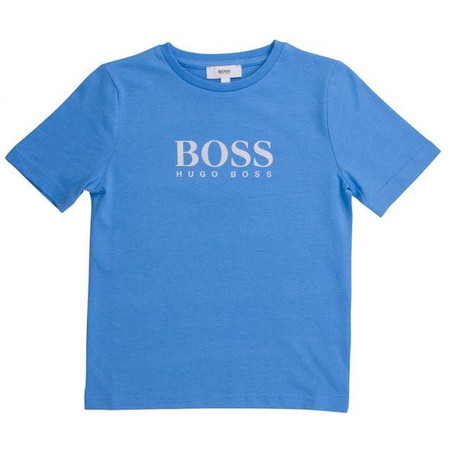Boss Boys Blue Big Logo S/s Tee Shirt
