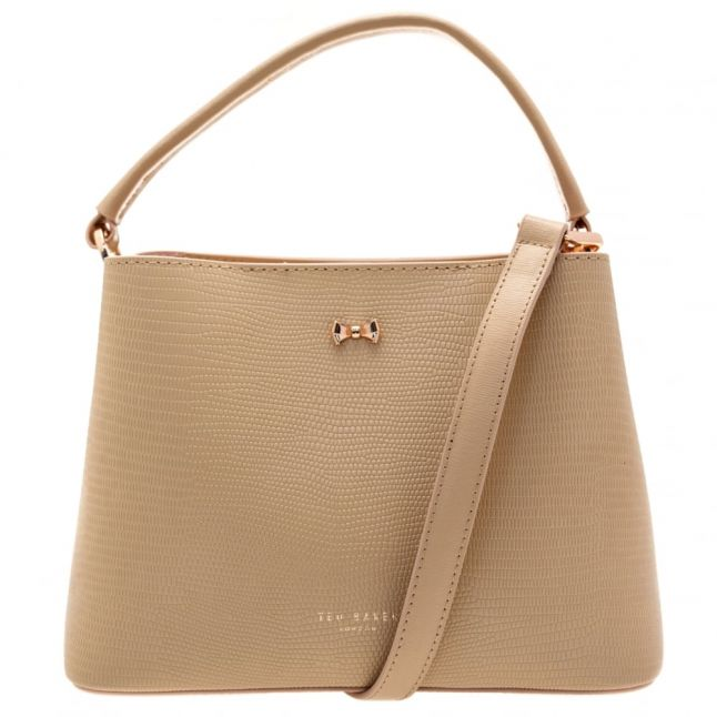 Womens Taupe Lainy Small Bow Tote Bag