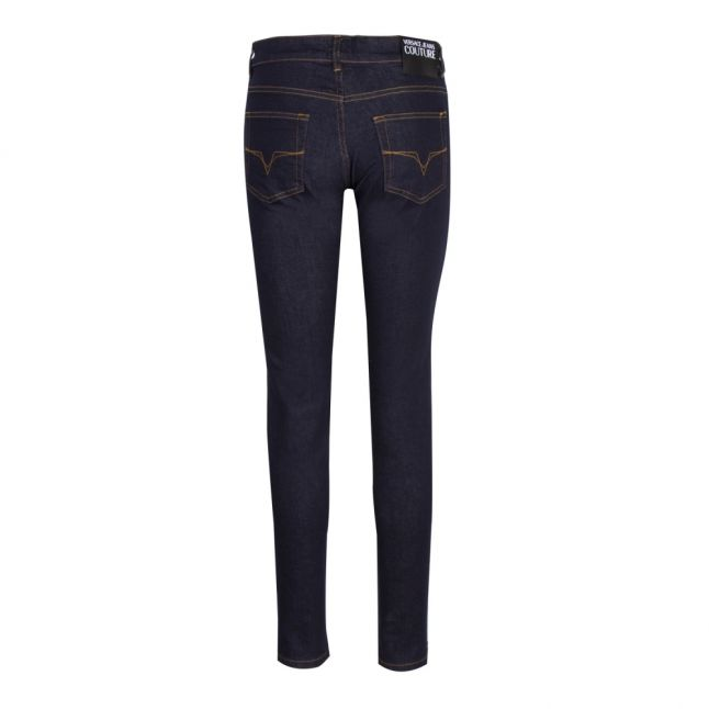 Womens Indigo Branded Skinny Fit Jeans