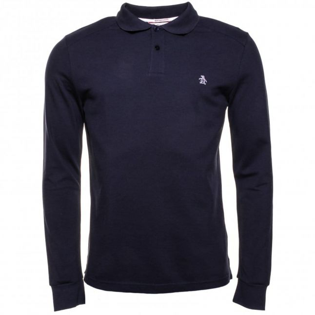 Mens Dark Sapphire EU Daddy Slim Fit L/s Polo Shirt