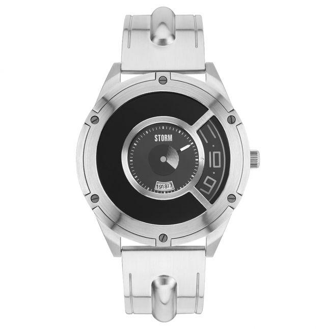 Mens Black Dial Silver Steffentron Watch