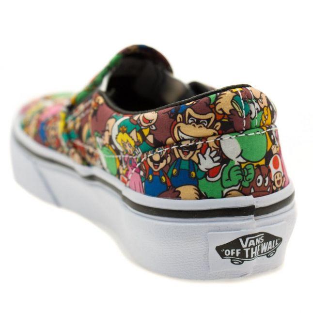 Kids Super Mario Bros Classic Slip Nintendo Trainers (10-3)