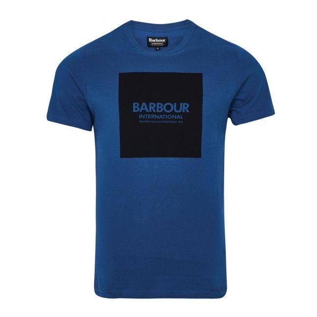 Mens Mid Blue Block S/s T Shirt