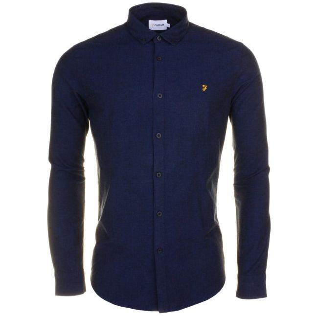 Mens True Blue Steen Slim Fit L/s Shirt