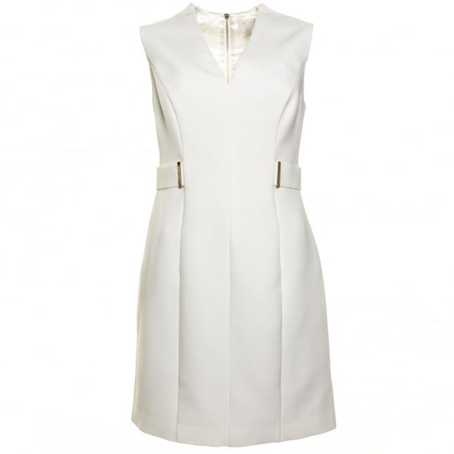 Womens Cream Dionne Domed Skirted Dress