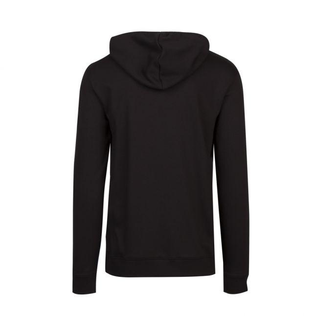 Mens Black Dangfall Logo Hooded Sweat Top