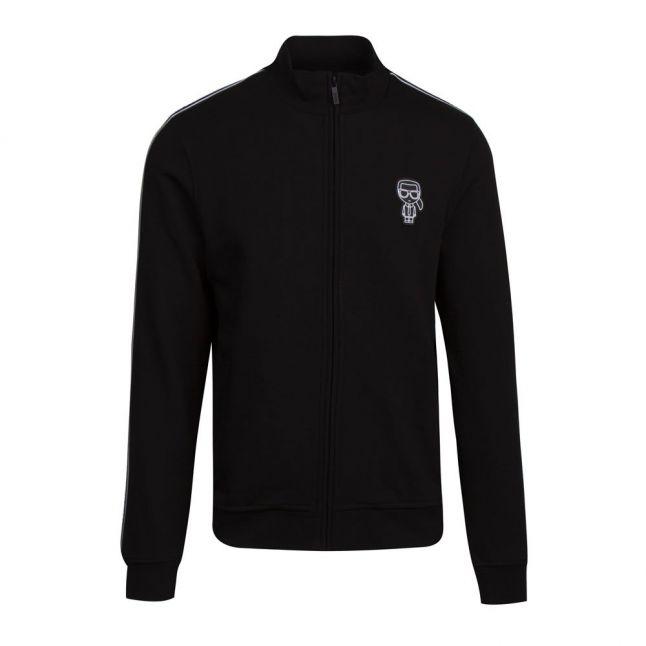 Mens Black Branded Sweat Jacket