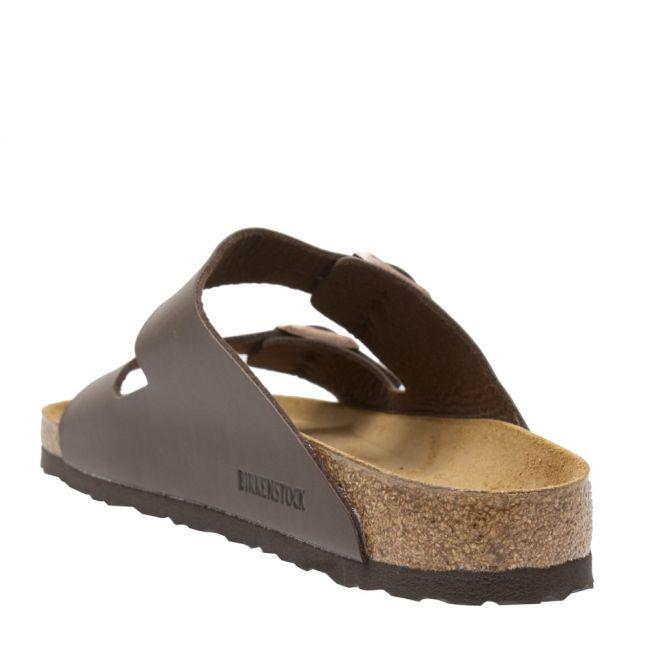 Mens Dark Brown Arizona Birko-Flor Slide Sandals