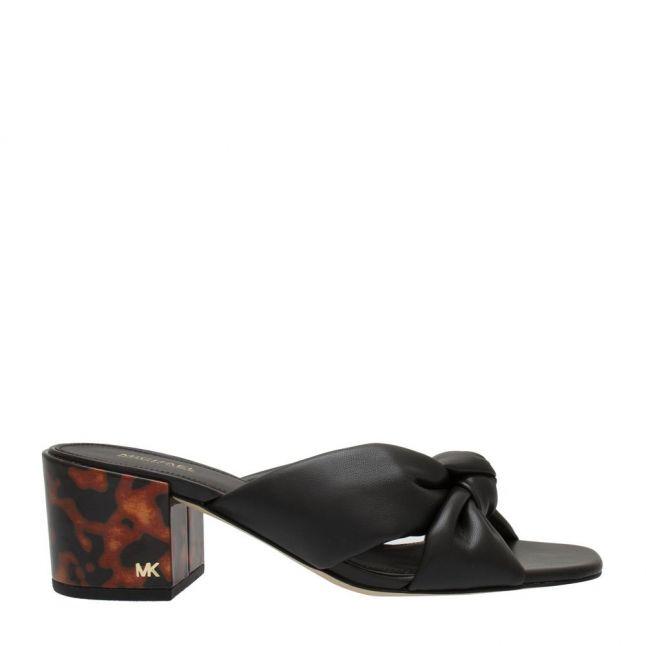 Womens Black Josie Mule Heeled Sandals