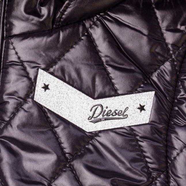 Girls Black Hooded Puffer Jacket