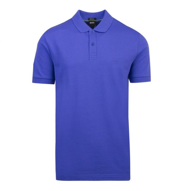 Athleisure Mens Medium Blue Piro S/s Polo Shirt