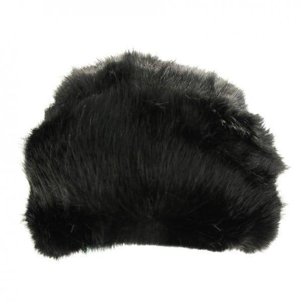 Womens Black Karah Faux Fur Hat