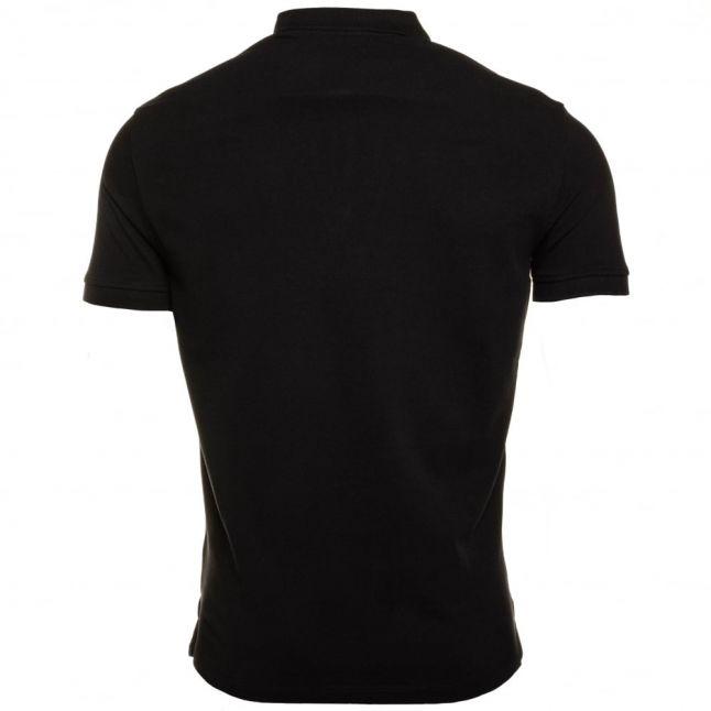 Mens Black Regular Fit S/s Polo Shirt