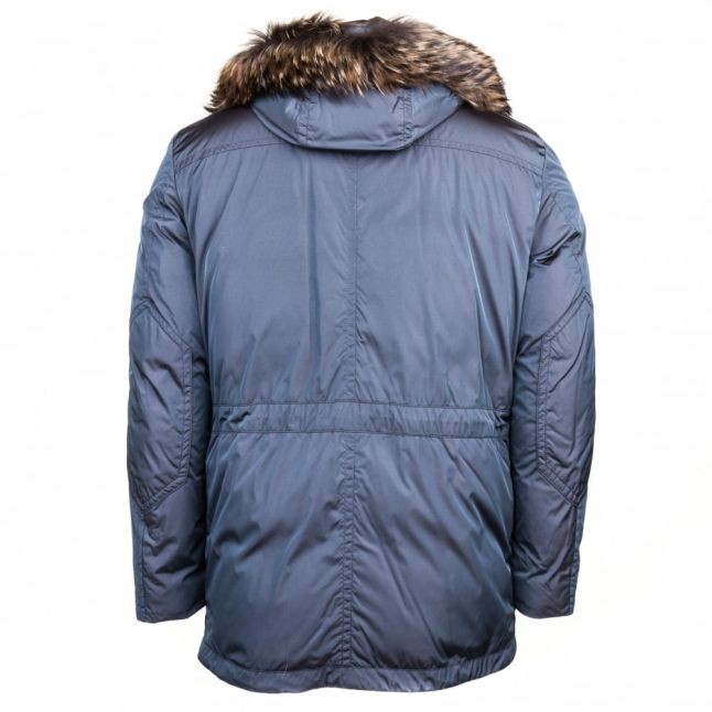 Paul & Shark Mens Charcoal Fur Trim Hooded Jacket