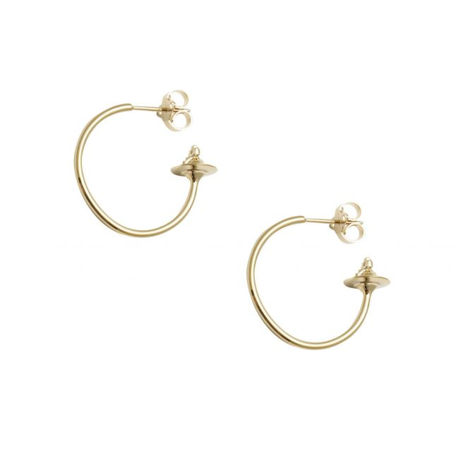 Womens Gold Rosemary Small Hoop Earrings