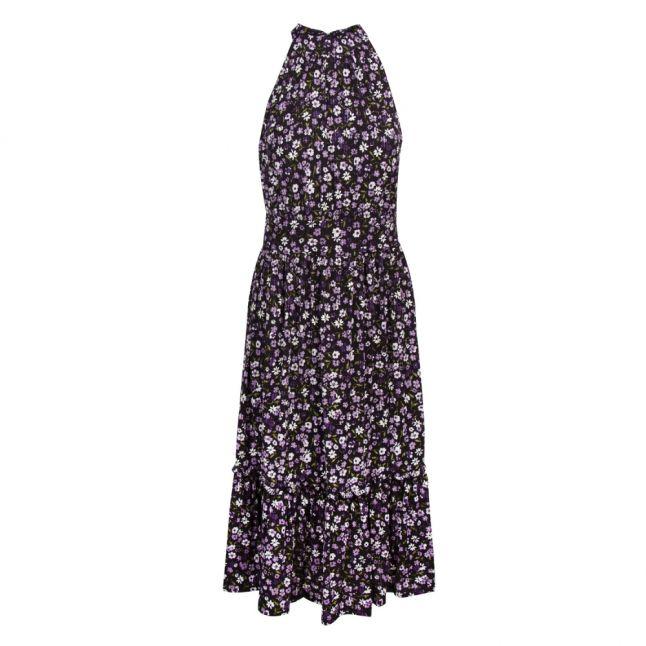 Womens Orchid Haze Garden Patch Tiered Midi Dress