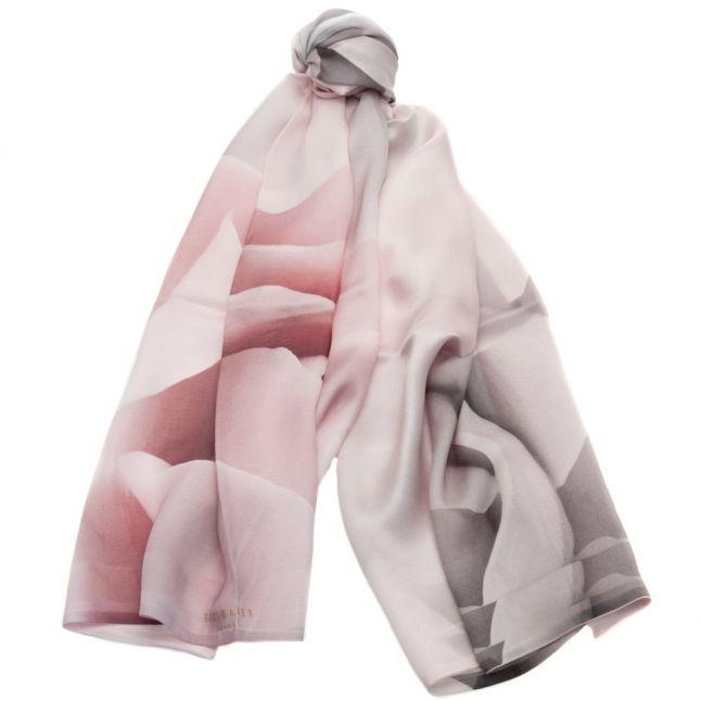 Womens Nude Pink Maita Porcelain Rose Long Silk Scarf