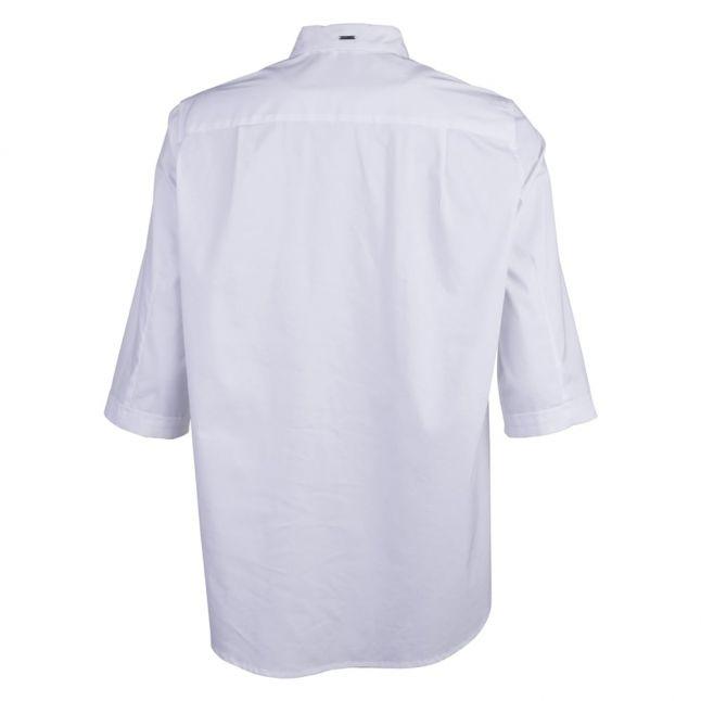 Womens White Swing 3/4 Sleeve Shirt