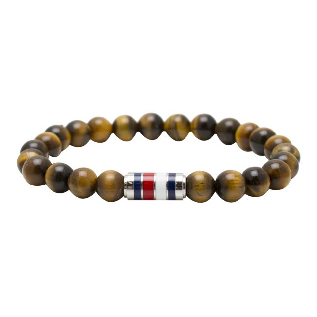 Mens Brown Beaded Bracelet