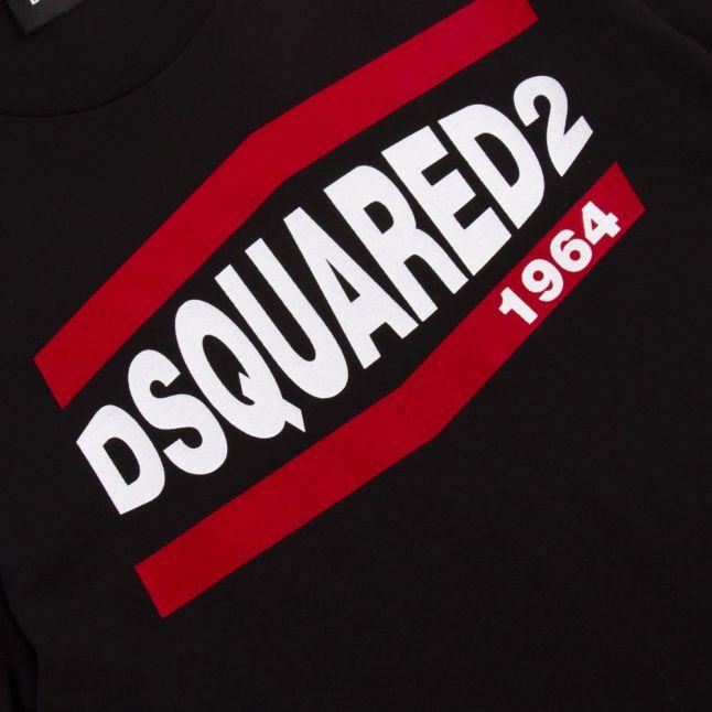 Boys Black Branded S/s T Shirt