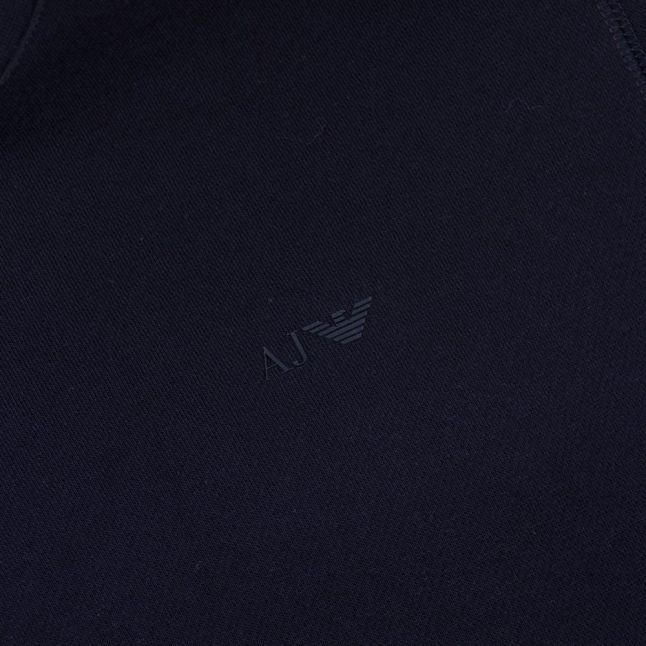 Mens Black Small Logo Crew Sweat Top