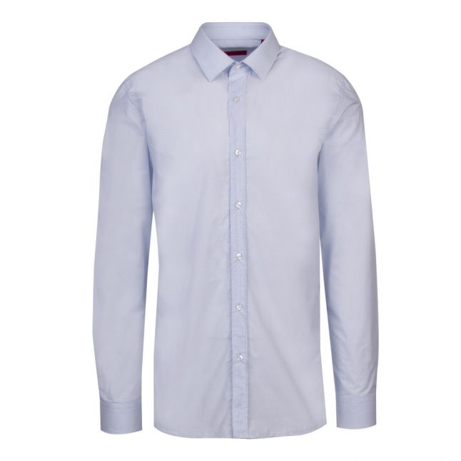 Mens Light Blue Elisha02 Extra Slim Fit L/s Shirt