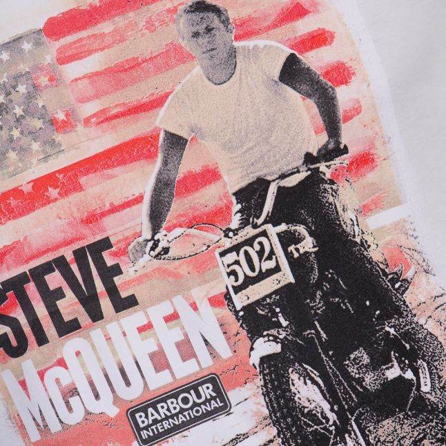 Steve McQueen™ Collection Mens Neutral Starts & Stripes S/s Tee Shirt