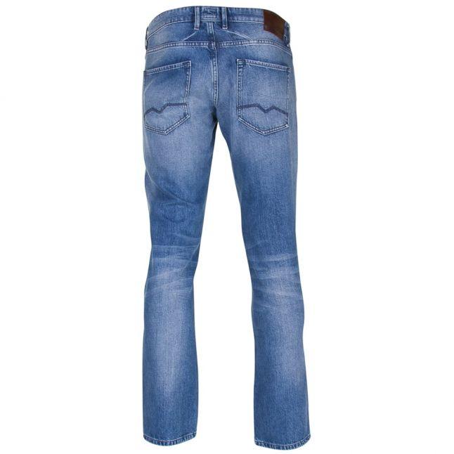 Orange Mens Bright Blue Wash Orange24 Barcelona Regular Fit Jeans
