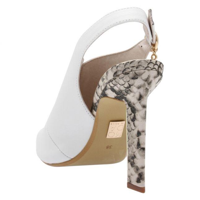 Womens White Cari Heels