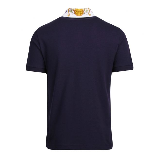 Mens Blue Tuileries Collar Regular Fit S/s Polo Shirt