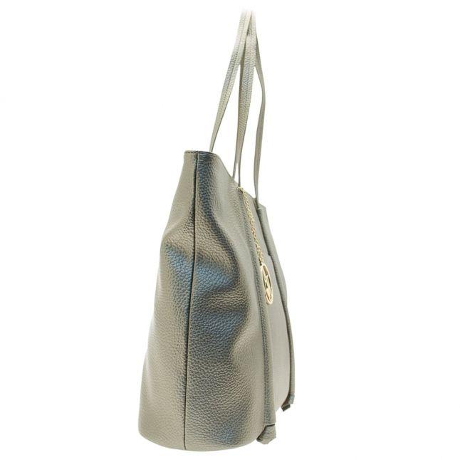 Womens Platinum Metallic Shopper Bag