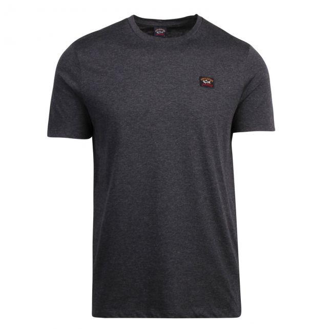 Mens Charcoal Small Logo Custom Fit S/s T Shirt