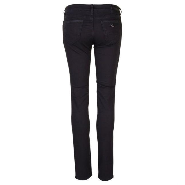 Womens Black J23 Mid Rise Skinny Fit Push Up Jeans