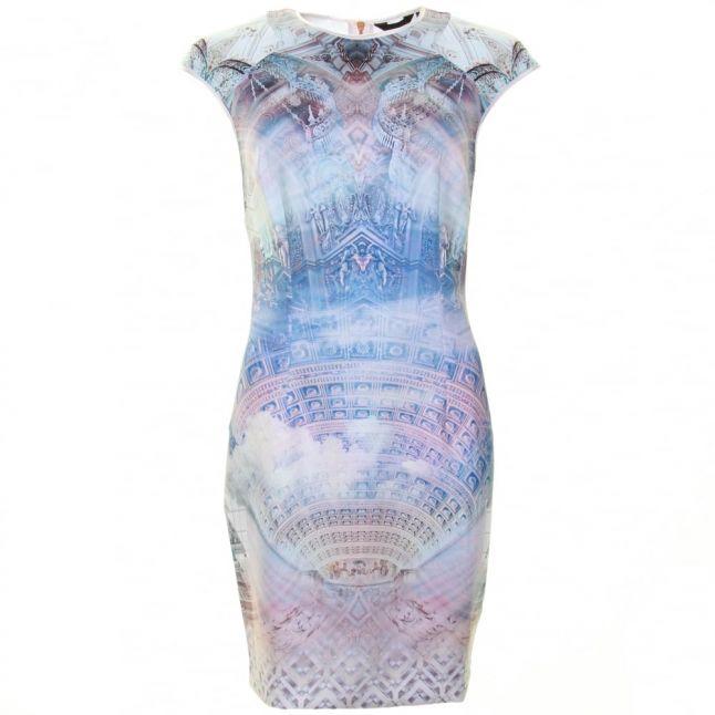 Womens Lilac Dremaa Dreamscape Bodycon Dress