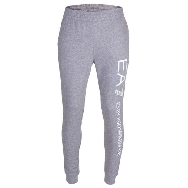 Mens Medium Grey Train Logo Slim Sweat Pants