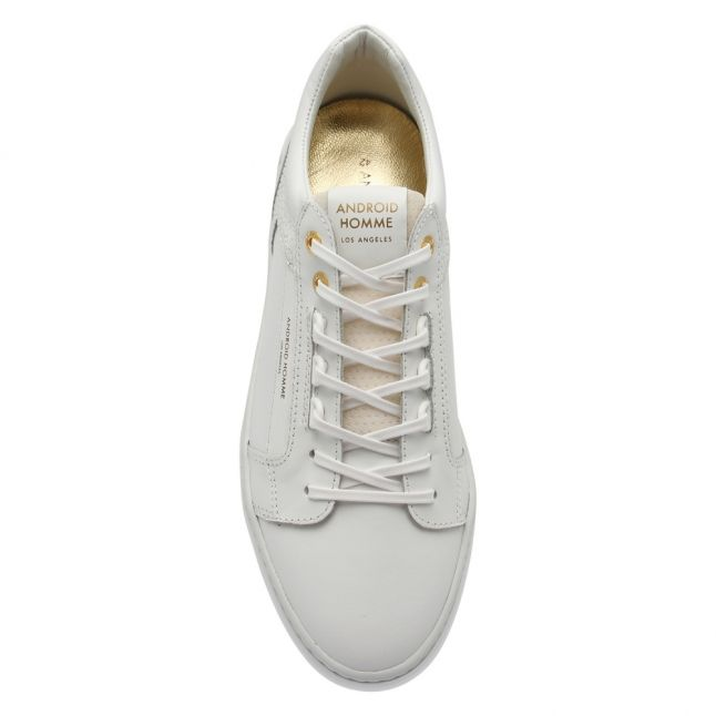 Mens Achromatic White Venice Raptor Emboss Trainers