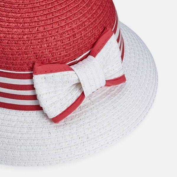 Girls Strawberry Round Straw Hat
