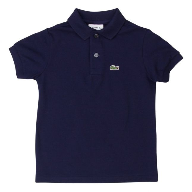 Boys Navy Classic Pique S/s Polo Shirt