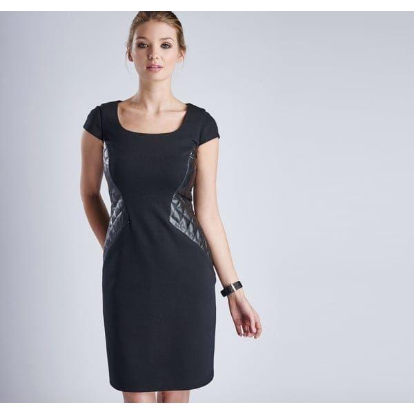 International Womens Black Ballotade Dress