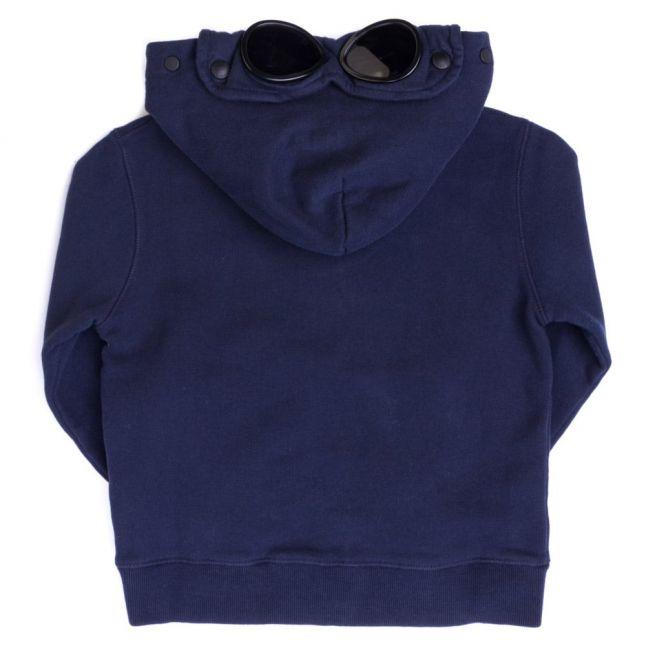 Boys Blue Goggle Hood Zip Through Sweat Top